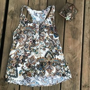 FOREVER 21 Paisley Tank Top